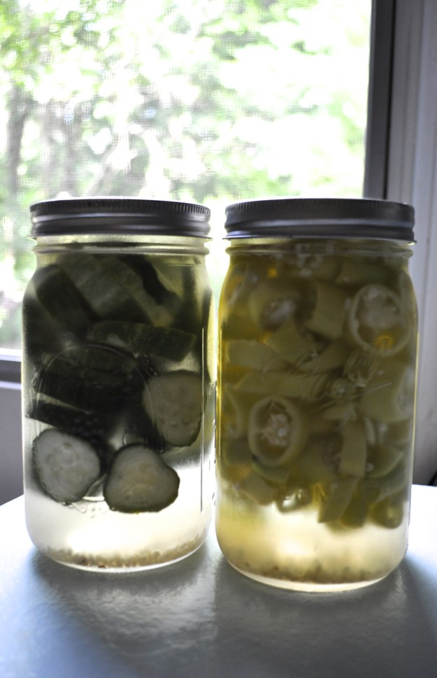 refrigerator pickles and peppers