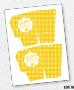 Sunshine Party Printables:: Favor Box