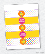 Pretty Polka Dot Party Printables:: Drink Labels
