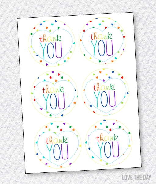 Rainbow Party Printables:: Favor Tags