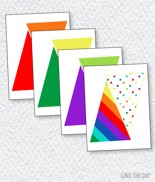 Rainbow Party Printables:: Pennant Banners