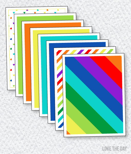 Rainbow Party Printables:: Coordinating Papers