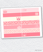 Princess Party Printables:: Party Flags