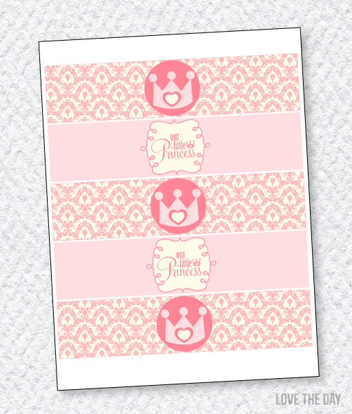 Princess Party Printables:: Drink Labels