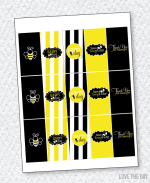 Bee Party PRINTABLES:: Mini Candy Bar Wrappers