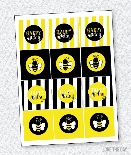 Bee Party PRINTABLES:: Party Tags