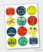 Fiesta Party PRINTABLES:: Party Circles