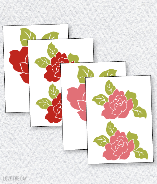 Butterfly Party PRINTABLES:: Rose Decals