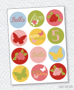 Butterfly Party PRINTABLES:: Party Circles