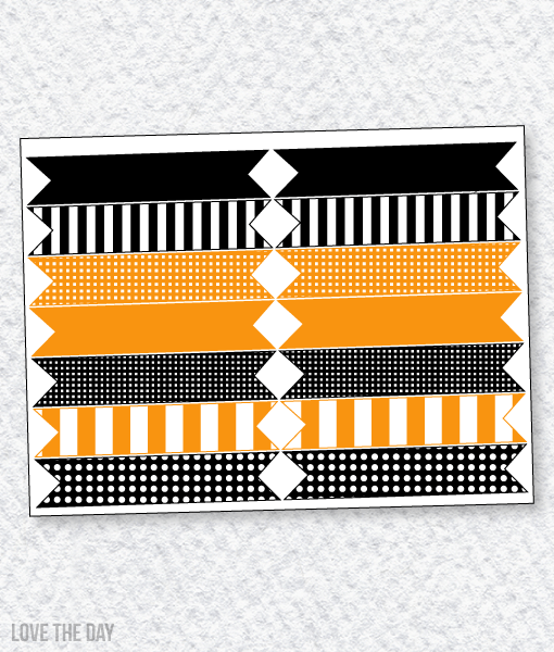 Black & Orange Halloween Party PRINTABLES:: Party Flags