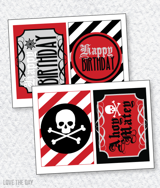 Pirate Party PRINTABLES:: 5X7 Party Signs