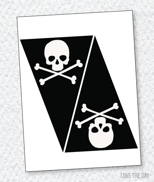 Pirate Party PRINTABLES:: Skull Banner