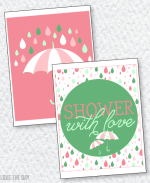 Shower With Love Baby Shower PRINTABLES:: 8X10 Party Signs