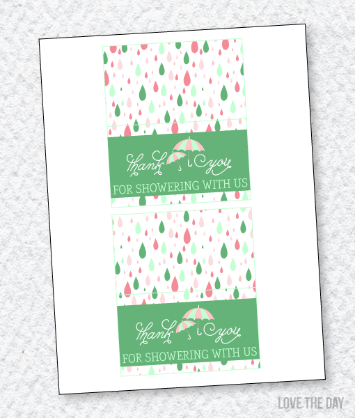 Shower With Love Baby Shower PRINTABLES:: Fold Over Labels
