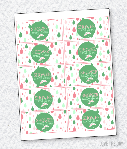 Shower With Love Baby Shower PRINTABLES:: Napkin Wrappers