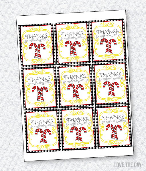 Santa's Sweets Party PRINTABLES:: Favor Tags