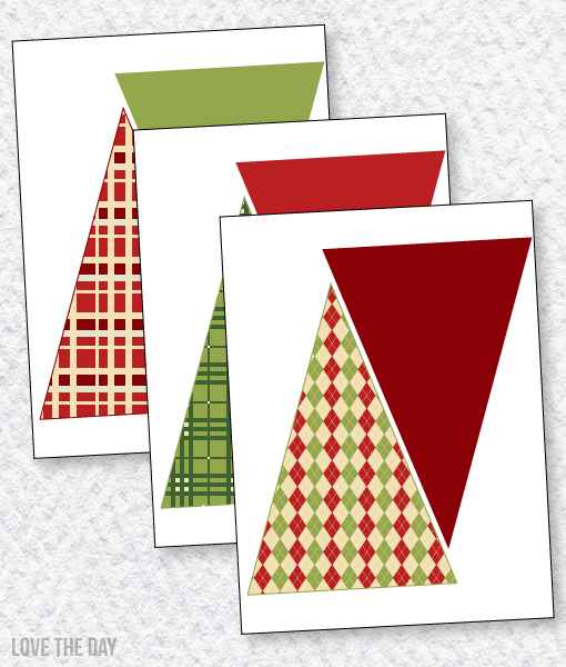 Floral Christmas Party PRINTABLES: Pennant Banners
