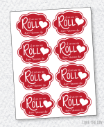 I Like How You Roll Valentine Printable by Love The Day