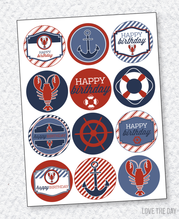 Lobster Party PRINTABLES:: Party Circles