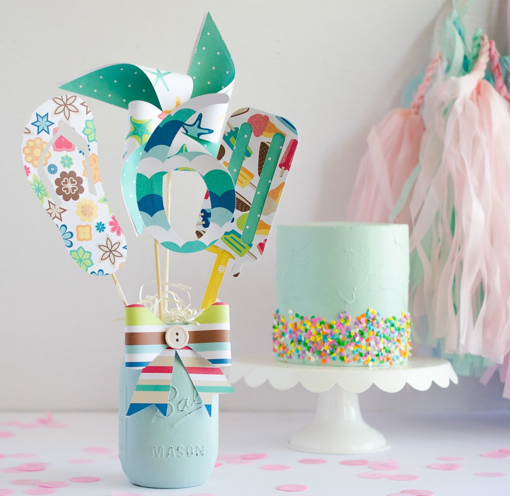 Diy Party Beach Birthday Diy Party Centerpiece Idea By Fawn On Love The Day