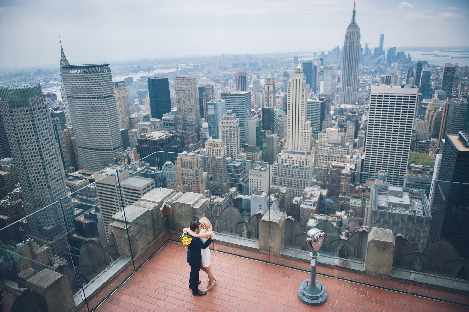 Hochzeit New York Rockefeller Center Elopement Top Of The Rock Hochzeit