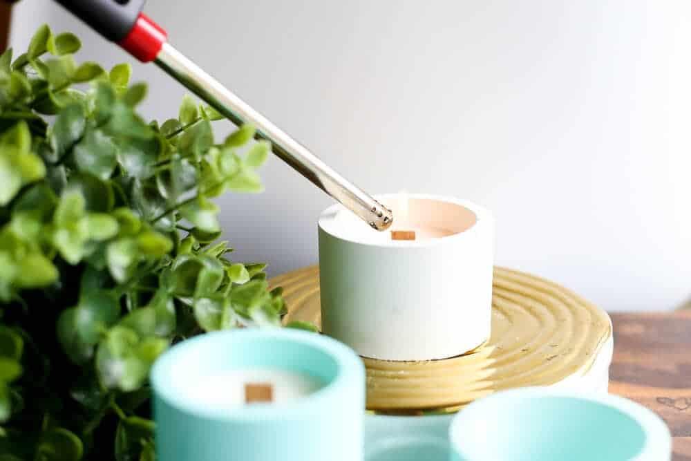 Diy Candles + Concrete Candleholders | Love & Renovations