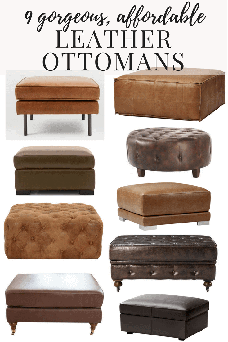 Couchtisch Pouf Affordable Modern Leather Ottomans Love Renovations