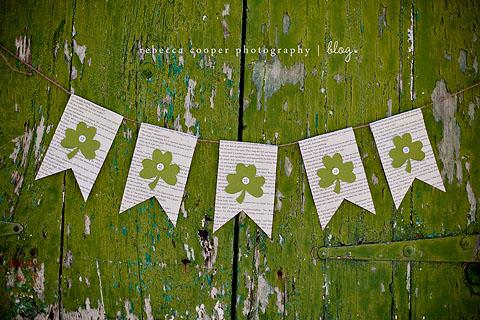 DIY St Patricks Banner