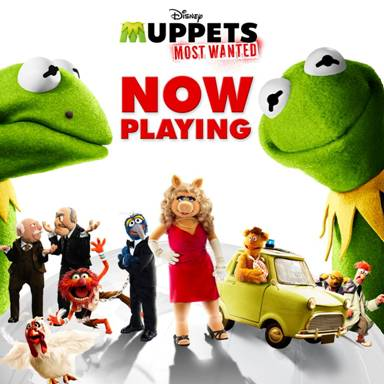 Disney's MUPPETS MOST WANTED in Theaters TODAY! #MuppetsMostWanted