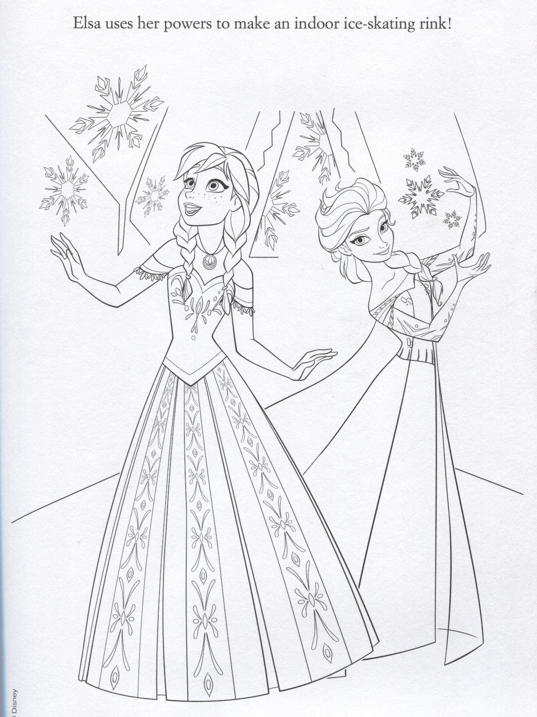 Annas Frozen Fever Birthday Printable Coloring Pages