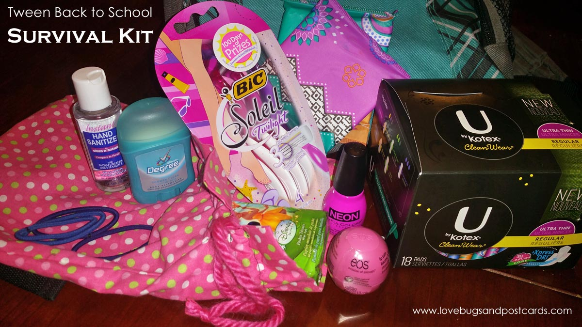 Back to school survival kit for girls