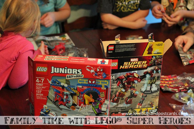 Family time with LEGO® Super Heroes