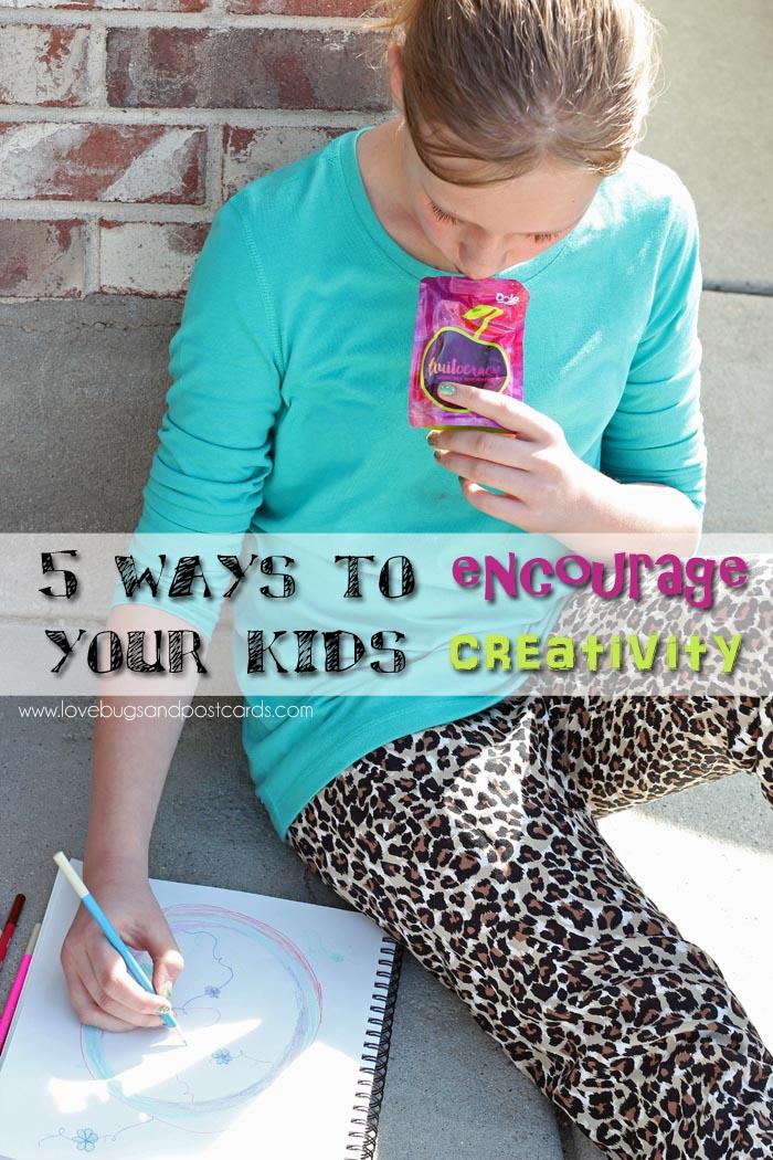 5 ways to encourage your kids creativity