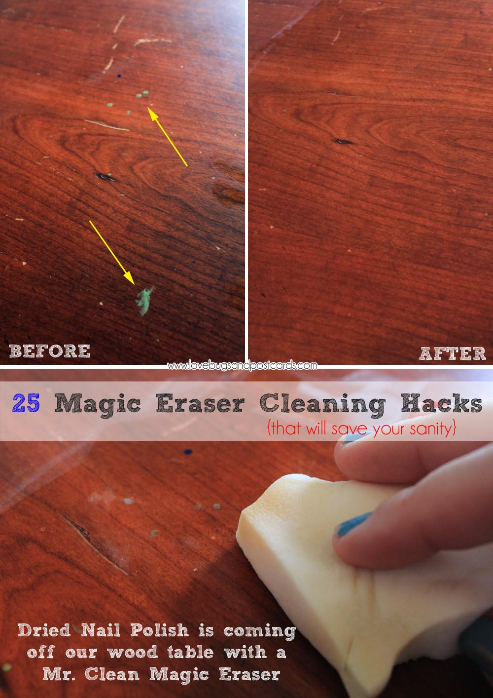 25 magic eraser cleaning hacks that will save your sanity lovebugs and postcards. Black Bedroom Furniture Sets. Home Design Ideas