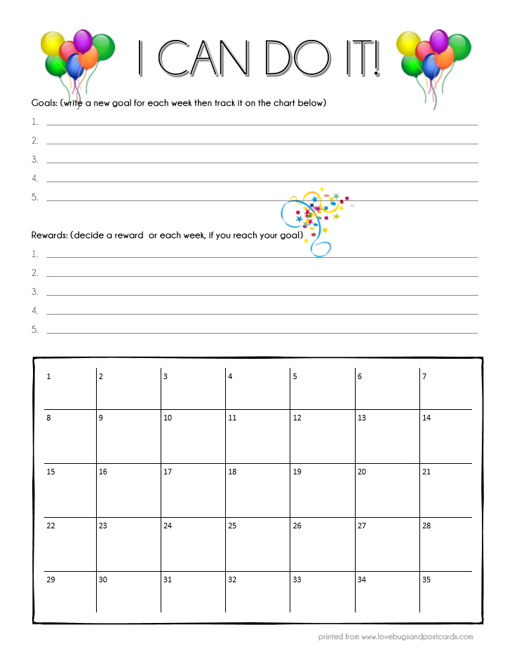Ways to go from nighttime bedwetting to dry nights - Rewards Chart