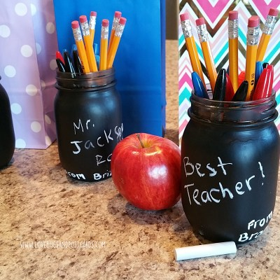 DIY Chalkboard Mason Jars Teacher Gift