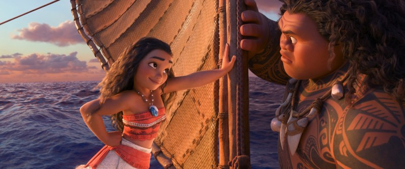 """Tenacious teenager Moana (voice of Auliʻi Cravalho) recruits a demigod named Maui (voice of Dwayne Johnson) to help her become a master wayfinder and sail out on a daring mission to save her people. Directed by the renowned filmmaking team of Ron Clements and John Musker, produced by Osnat Shurer, and featuring music by Lin-Manuel Miranda, Mark Mancina and Opetaia Foa'i, """"Moana"""" sails into U.S. theaters on Nov. 23, 2016. ©2016 Disney. All Rights Reserved."""