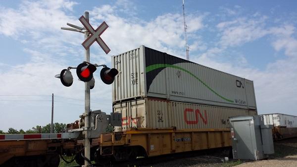 Канадский грузовой поезд