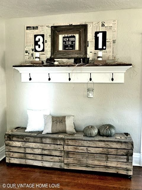 Bank Flur Upcycling Interiors: 10 Top Pallet Ideas - Love Chic Living