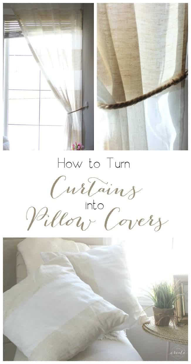Make Curtains How To Make Pillow Covers From Curtains Love Create Celebrate