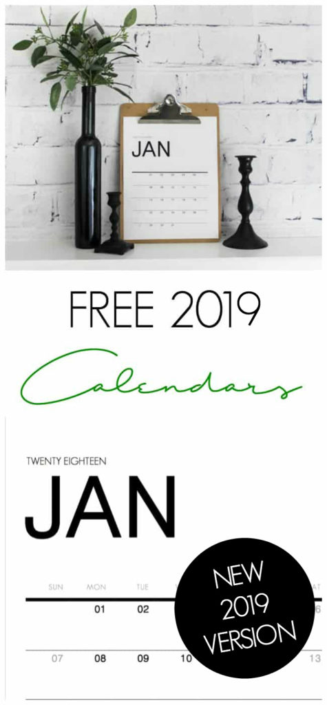 Free Printable Monthly Wall Calendars - Love Create Celebrate