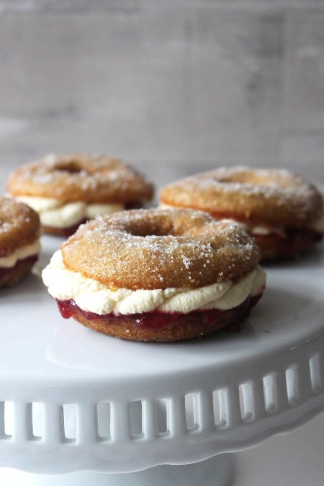 jam cream doughnuts