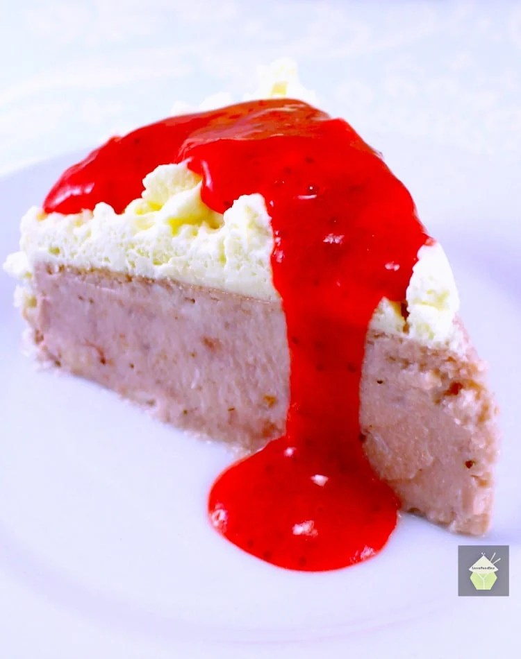 Strawberry and Coconut Ricotta Cheesecake – Lovefoodies