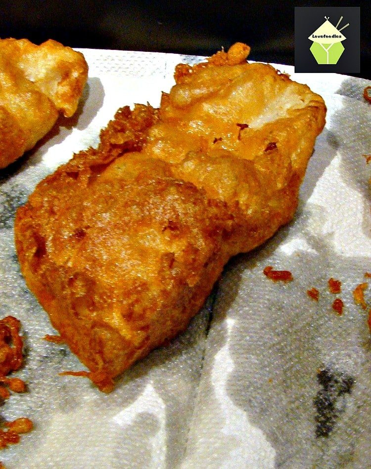 British beer battered fish and chips lovefoodies for Fish and chips batter recipe