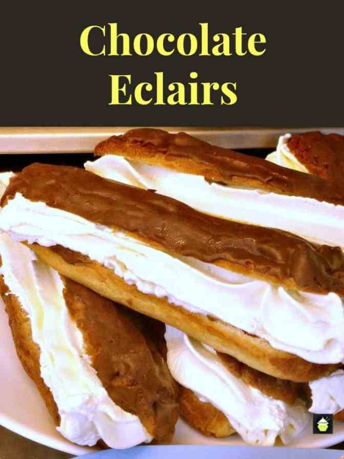 Cream-Filled Chocolate-Covered Eclairs Recipes — Dishmaps