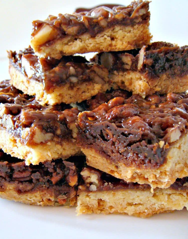 Caramel Pecan Bars. These are so addictive! Easy to make and always ...