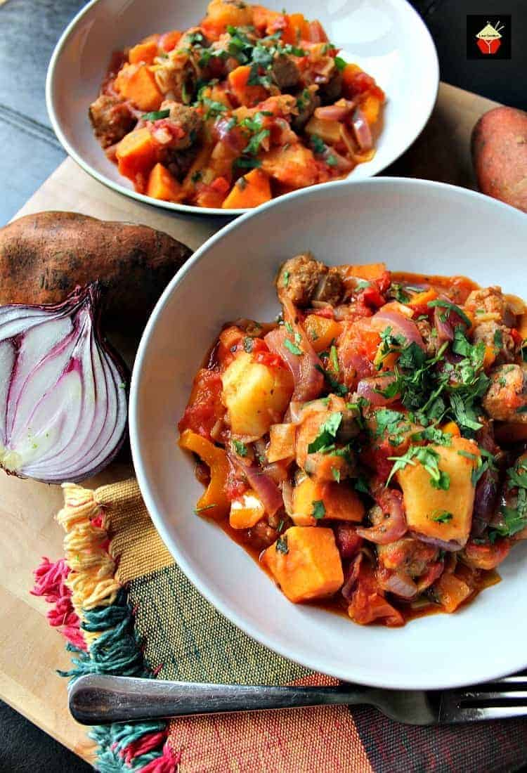 Cuisine Yam Sausage And Sweet Potato Dinner A Really Quick Easy And Budget