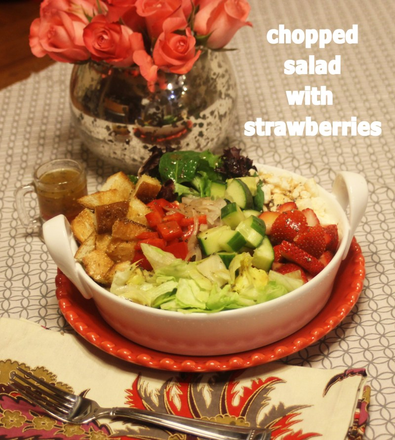 Chopped Salad with Strawberries