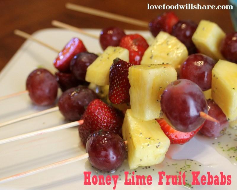 Honey Lime Fruit Kebabs