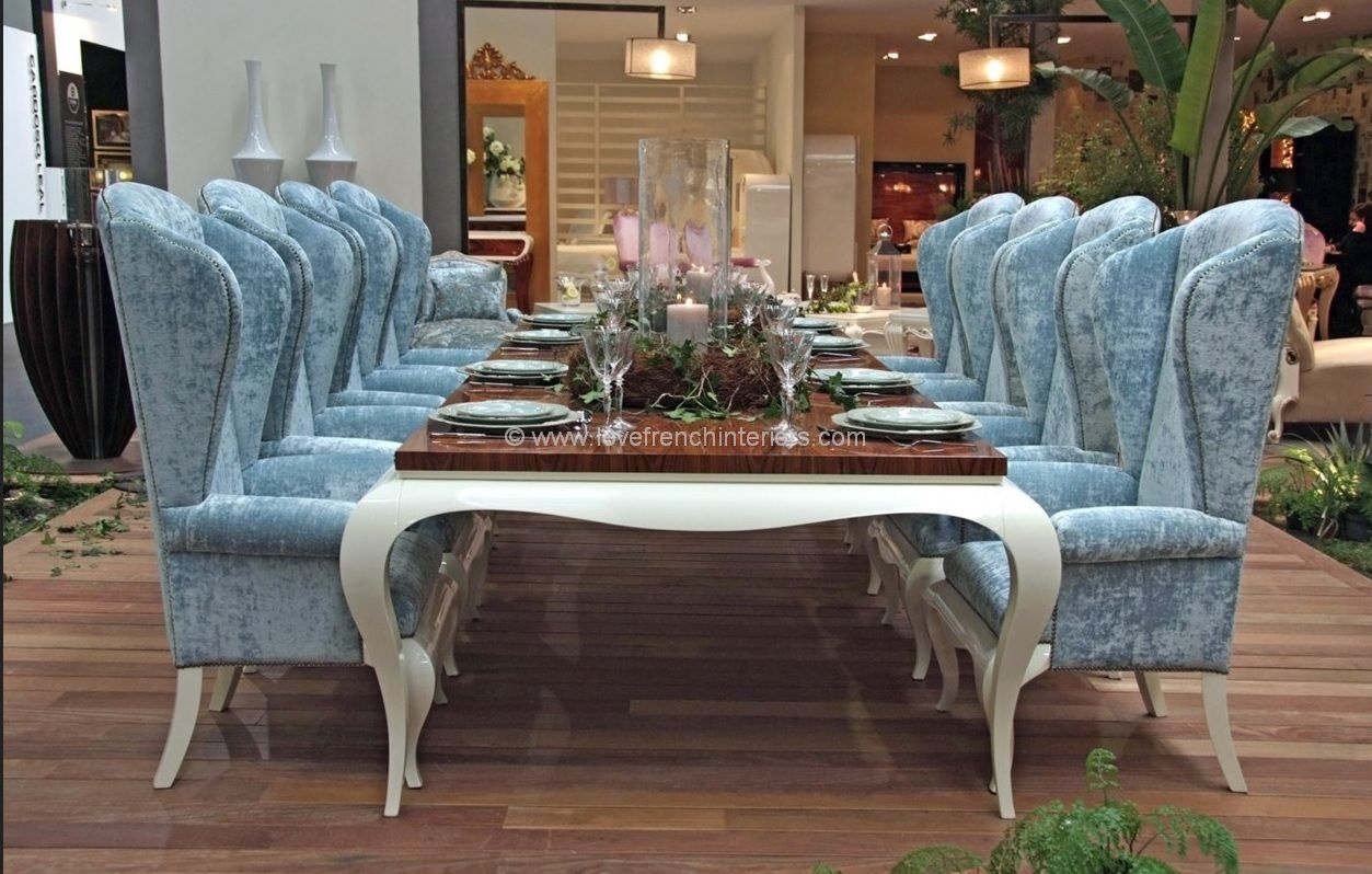 Luxus Design Luxus Dining Collection In Blue And White